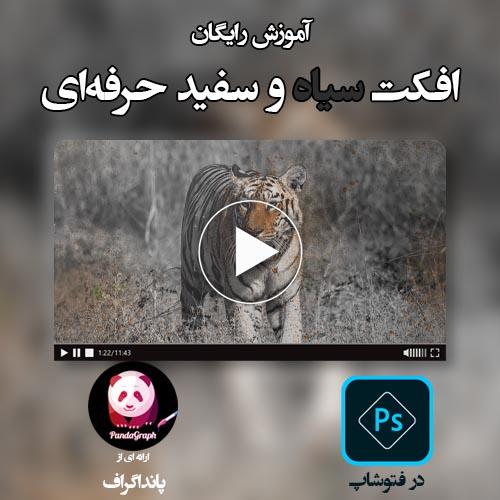 ویدئو آموزش افکت سیاه و سفید در فتوشاپ به زبان فارسی